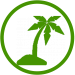 icon palm groen donker